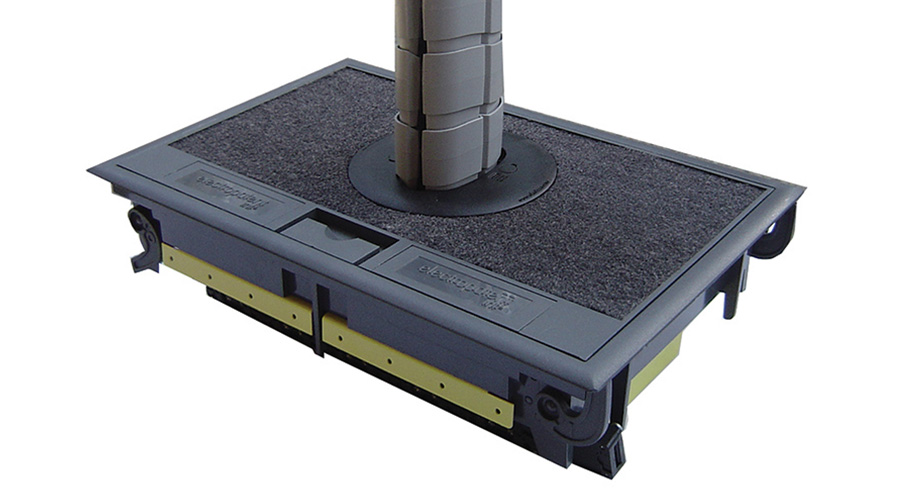 Large floor box power data cable management Condor OE Elsafe