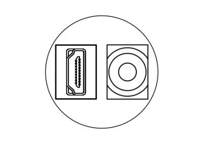 Keystone HDMI, audio, USB OE Elsafe