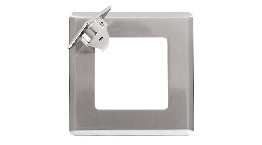 Orbit duct metal grommet 80mm square brushed stainless steel OE Elsafe