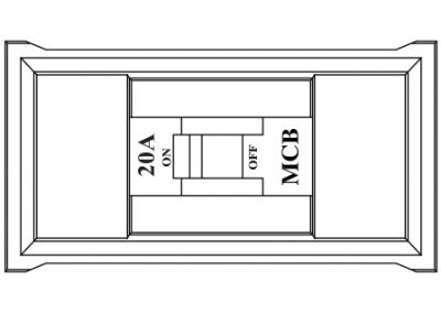 Power data rail in desk box MCB protection OE Elsafe