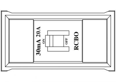Power data rail in desk box RCBO protection OE Elsafe